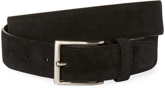 a. testoni Solid Suede Calfskin Leather Belt