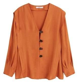 MANGO Pintuck detail blouse