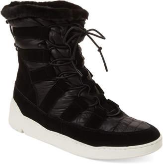 J/Slides Black Jordy Suede Lace Up Snow Boots