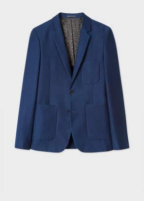 Paul Smith Men's Buggy Lined Navy Cotton-Blend Blazer