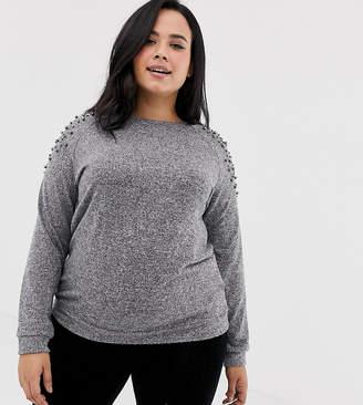 Junarose embellished shoulder sweater