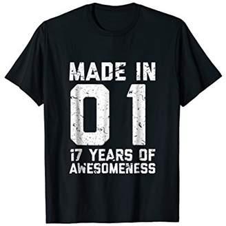 17th Birthday Shirt Gift Age 17 Year Old Boy Girl Seventeen