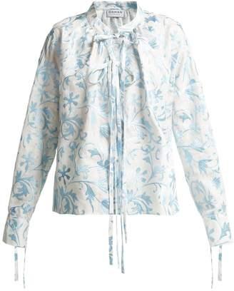 Osman Jacky embroidered linen shirt