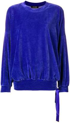 Styland plain velvet sweatshirt