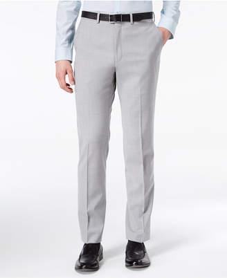 DKNY Men's Modern-Fit Stretch Gray Sharkskin Suit Pants