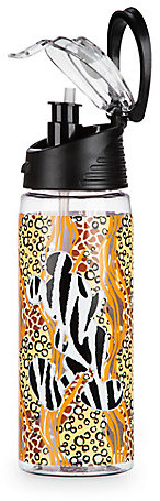 Mickey Mouse Animal Print Water Bottle with Straw