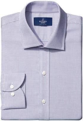 Buttoned Down Men's Non-Iron Slim Fit Spread Collar Small Geo Dress Shirt Shirt