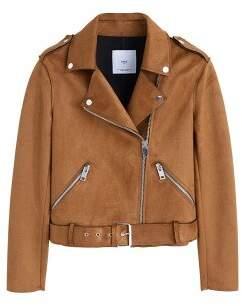 MANGO Belted biker jacket