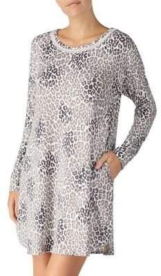 Kensie Printed Long-Sleeve Sleepshirt