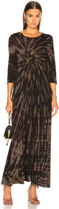 Raquel Allegra 1/2 Sleeve Drama Maxi Dress