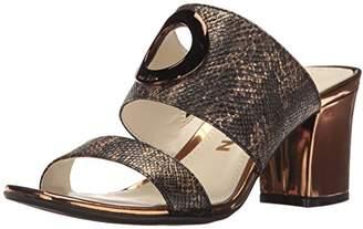 Anne Klein Women's Naomi Reptile Heeled Sandal