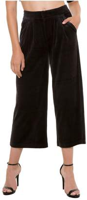 Juicy Couture Cropped Wide Leg Lightweight Velour Pant