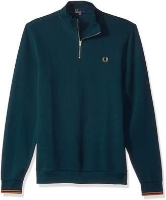 Fred Perry Men's Zip Neck Pique Long Sleeve Shirt,