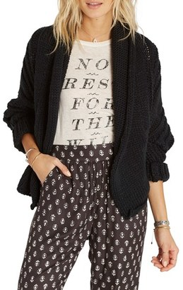 Billabong Icy Sands Cocoon Cardigan $69.95 thestylecure.com