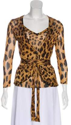 Dolce & Gabbana Animal Print Cardigan Set