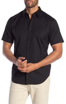Theory Irving Poplin Short Sleeve Shirt