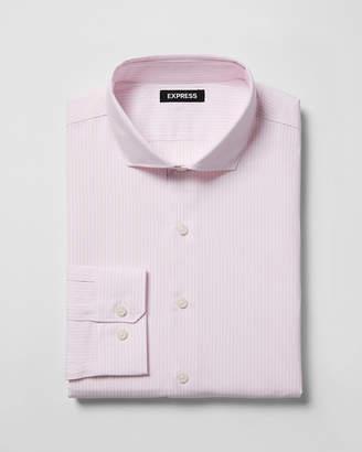 Express Classic Striped Spread Collar Dress Shirt