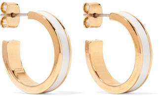 Isabel Marant Gold-tone And Resin Hoop Earrings - Cream