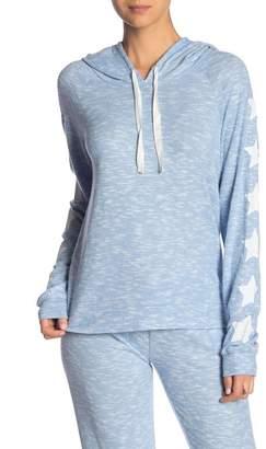 PJ Salvage Star Sleeve Hooded Sweater