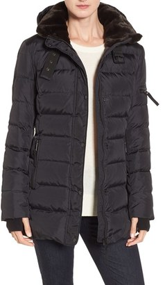 S13/NYC S13 'East Sider' Quilted Coat with Faux Fur Trim $250 thestylecure.com