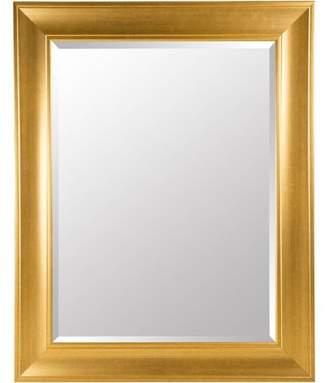 Gallery Solutions Large 39X49 Beveled Wall Mirror with Antique Gold Frame