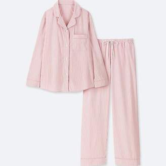 Uniqlo Women's Cotton Long-sleeve Pajamas