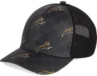Gucci tiger printed baseball cap