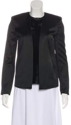 J Brand Textured Open-Front Blazer Black Textured Open-Front Blazer