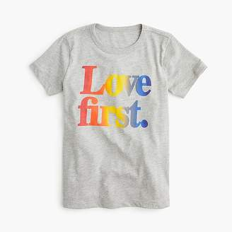 """J.Crew Kids' crewcuts X Human Rights Campaign """"Love first"""" T-shirt"""