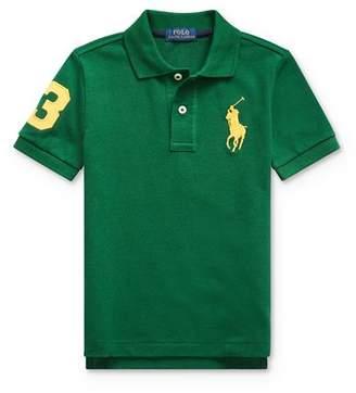 Ralph Lauren Boys' Stretch Cotton Big Pony 3 Polo - Little Kid