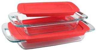 Pyrex Easy Grab Oblong Baking Dish Set, 4 Piece