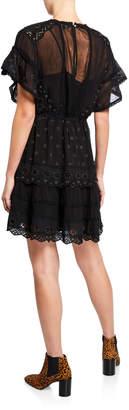 Love Sam Champagne Dreams Short-Sleeve Mini Dress