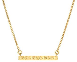 Satya Jewelry Gold Plate Moon Phase Bar (18-Inch) Pendant Necklace