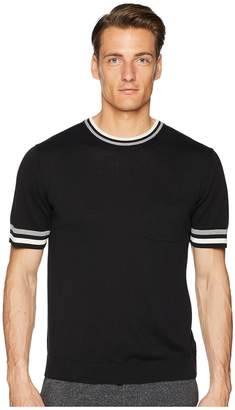 Todd Snyder Tipped Short Sleeve Crew Sweater Men's Sweater
