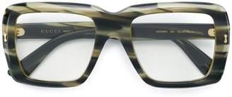 Gucci square oversized glasses