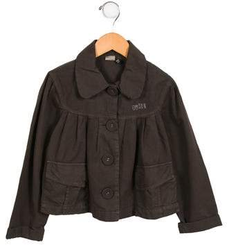 Ikks Girls' Pleated Button-Up Jacket