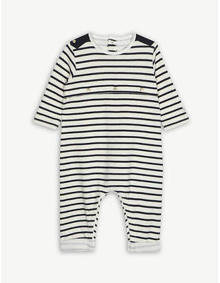 Petit Bateau Striped cotton all-in-one 1-12 months