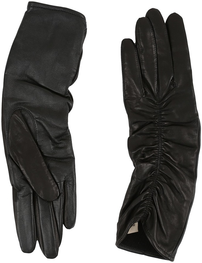 UGG UGG Ruched Novelty Leather Smart Gloves