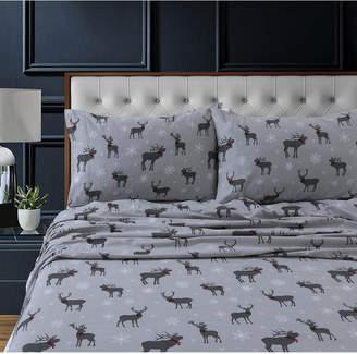 Tribeca Living Checkered Buck Heavyweight Cotton Flannel Printed Extra Deep Pocket Queen Sheet Set Bedding