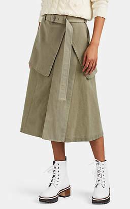Sies Marjan Women's Wallis Piqué Cotton Skirt - Olive
