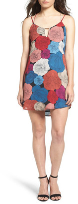Socialite Bar Detail Print Camisole Shift Dress $44 thestylecure.com