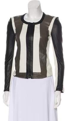 Helmut Lang Leather Paneled Jacket