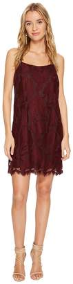 1 STATE 1.STATE Floral Lace Racerback Shift Dress Women's Dress