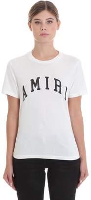 Amiri College T-shirt In White Cotton