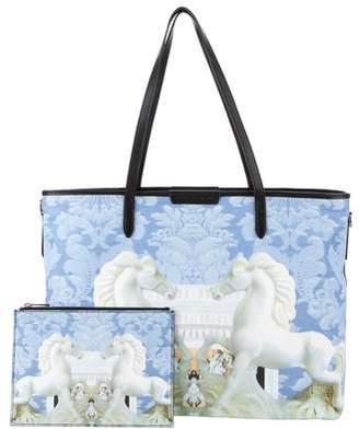 Mary Katrantzou Printed Canvas Diaper Bag