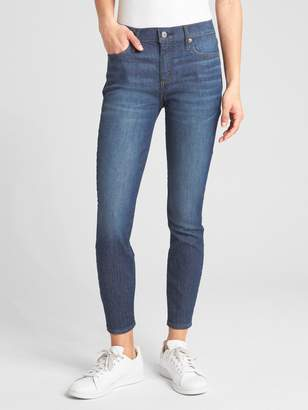 Gap Wearlight Mid Rise True Skinny Ankle Jeans