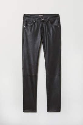 H&M Faux Leather Pants - Black
