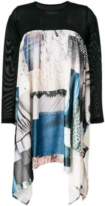 MM6 MAISON MARGIELA patchwork asymmetric dress