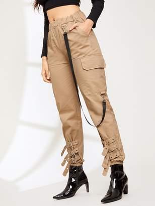 Shein Pocket Detail Elastic Waist Pants