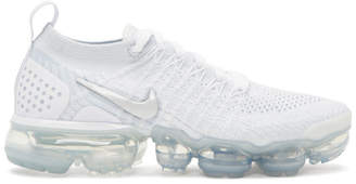 Nike White and Grey Air VaporMax Flyknit 2